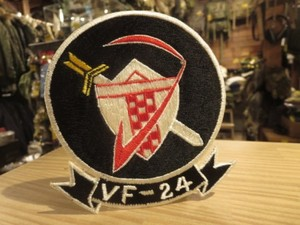 """U.S.NAVY Patch """"VF-24 Red Checkertails"""" 1960年代 new"""