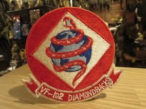 "U.S.NAVY Patch ""VF-102 Diamondbacks"" 1970年頃 new"
