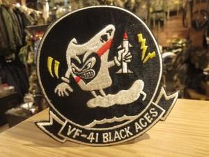 "U.S.NAVY Patch ""VF-41 Black Aces"" 1970年頃 new"