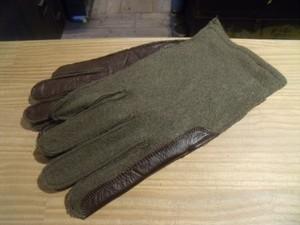 FRANCE Gloves Wool/Leather sizeM? 1967年 new?