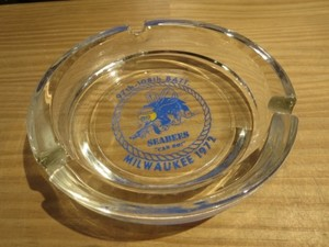 "U.S.NAVY AshTray ""SEABEES"" 1972年 used"