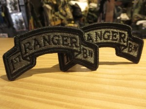 """U.S.ARMY Patch """"1st RANGER BN"""" 1pair new?"""