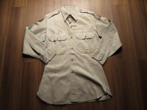 U.S.ARMY Shirt Cotton Khaki 1948年 sizeXS? used