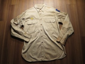 U.S.ARMY AIR FORCE Shirt CottonKhaki 1940年代 sizeL?