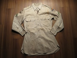 U.S.ARMY Shirt Cotton Khaki 1948年 sizeXS? used