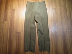 U.S.Trousers 100%Wool SergeGreen 1976年 size33 used