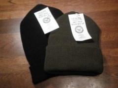 U.S.Watch Cap 100% Wool new Black/Olive