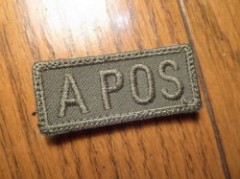 "U.S.Patch Small Subdued ""A POS"""