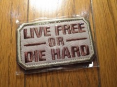 "U.S.Patch""LIVE FREE OR DIE HARD"" new"