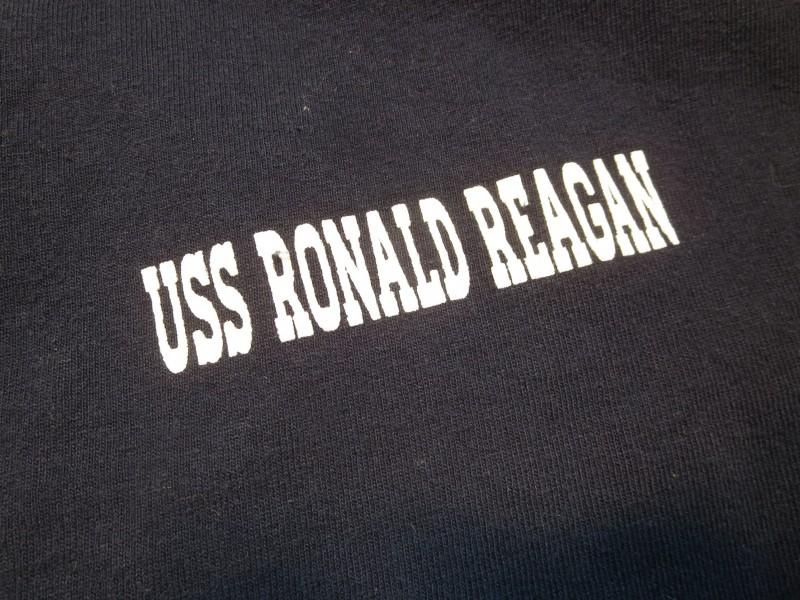 Military USS RONALD REAGAN CVN-76 Polo Shirt White