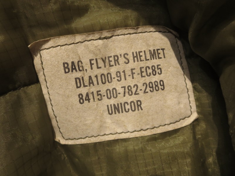 U.S.AIR FORCE Bag Flyer's Helmet 1991年 used