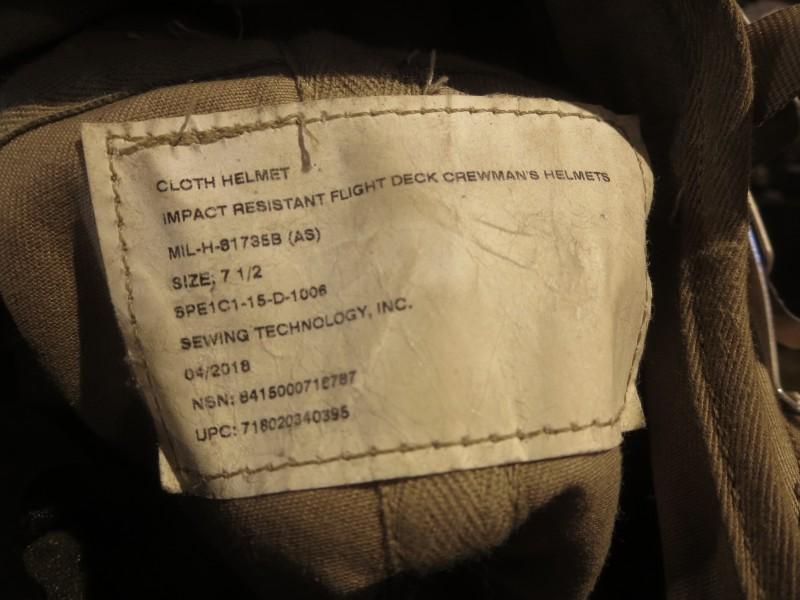US Navy Flight Deck Crewman/'s Helmet USED